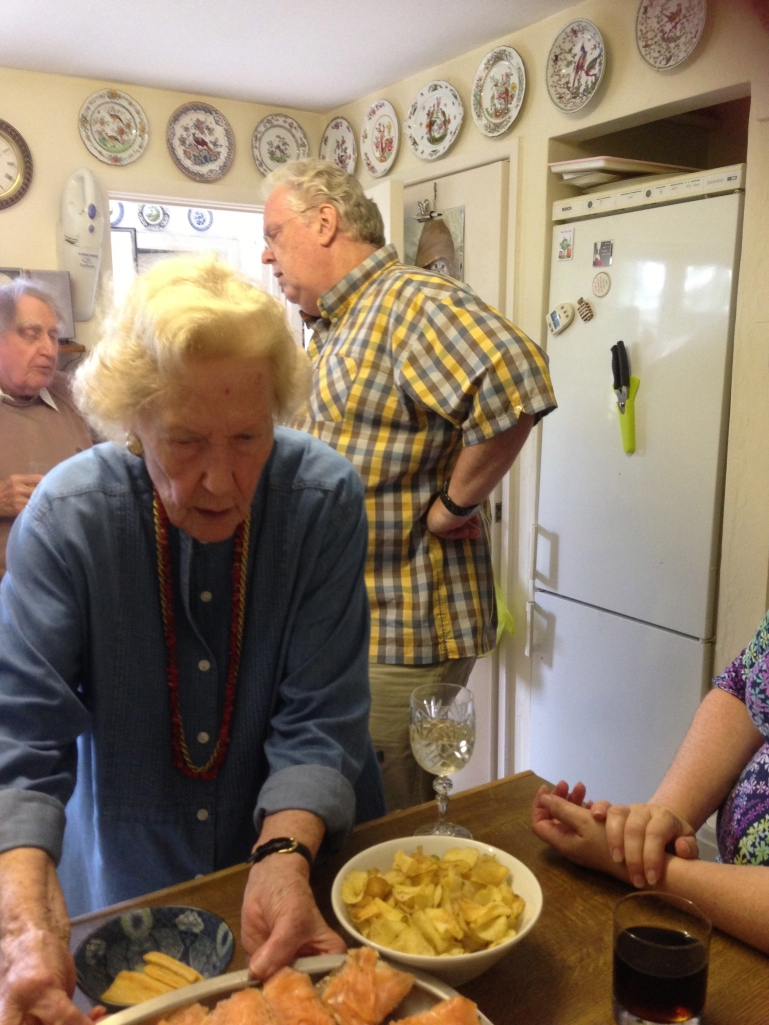 Aunty Paddy serving lunch