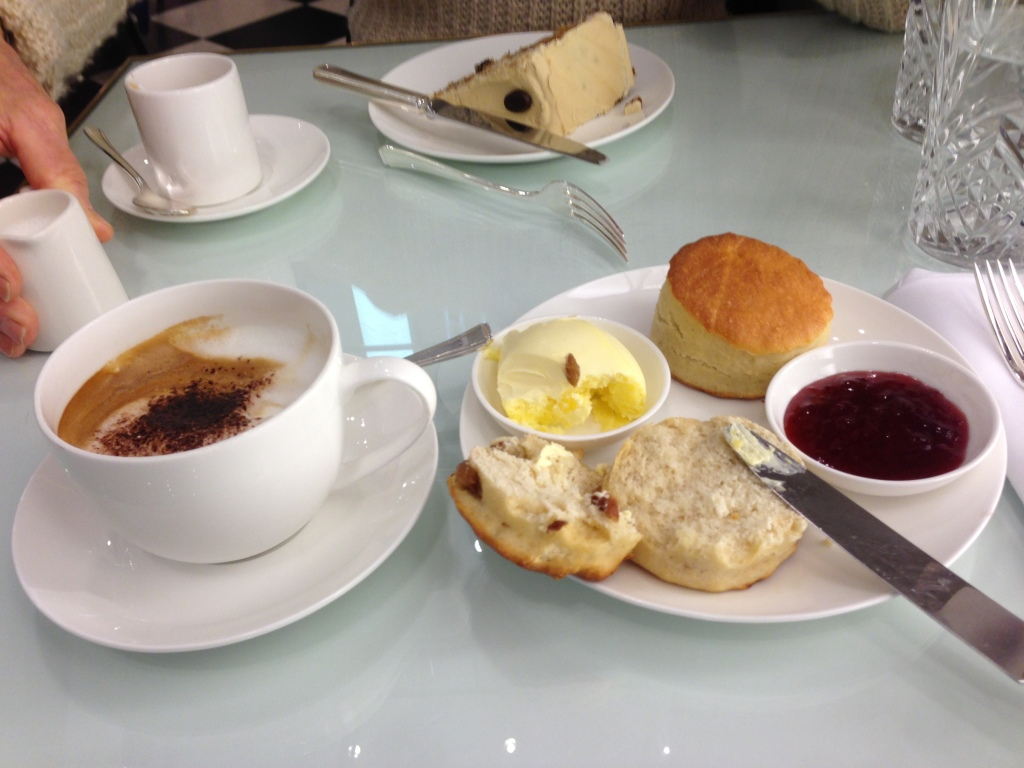 Coffee, scones and clotted cream at Selfridges, London