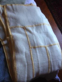 Merino wool 2 ply with crochet borders